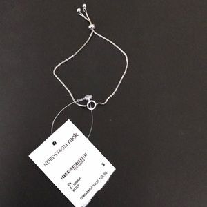 Pave Circle Station Cubic Zirconia Bracelet $155